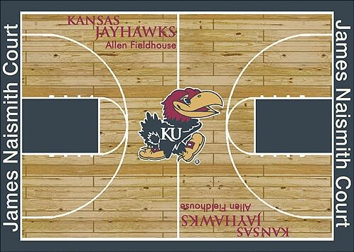 NCAA College Home Court Kansas Novelty Rug