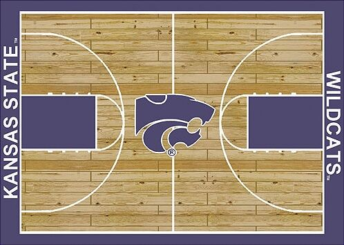 NCAA College Home Court Kansas State Novelty Rug Rug Size: Rectangle 3'10