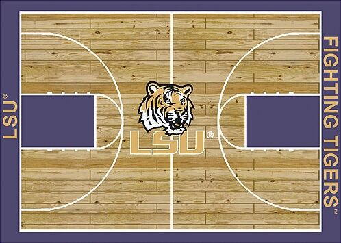 NCAA College Home Court LSU Novelty Rug Rug Size: Rectangle 5'4