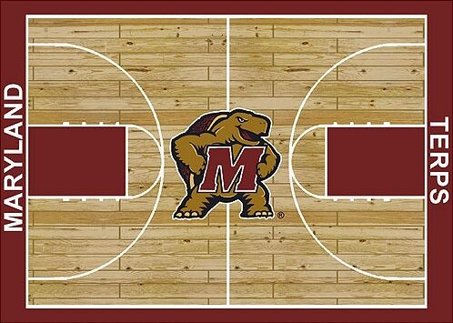 NCAA College Home Court Maryland Novelty Rug Rug Size: Rectangle 7'8