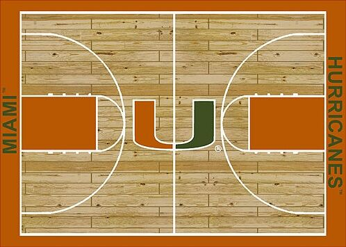 NCAA College Home Court Miami Novelty Rug Rug Size: Rectangle 3'10