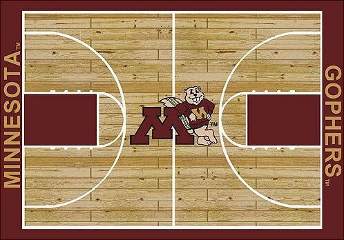 NCAA College Home Court Minnesota Novelty Rug Rug Size: Rectangle 10'9