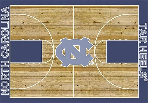 NCAA College Home Court North Carolina Novelty Rug Rug Size: Rectangle 10'9