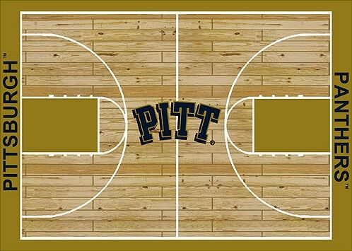 NCAA College Home Court Pittsburgh Novelty Rug Rug Size: Rectangle 7'8