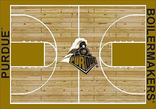 NCAA College Home Court Purdue Novelty Rug Rug Size: Rectangle 10'9