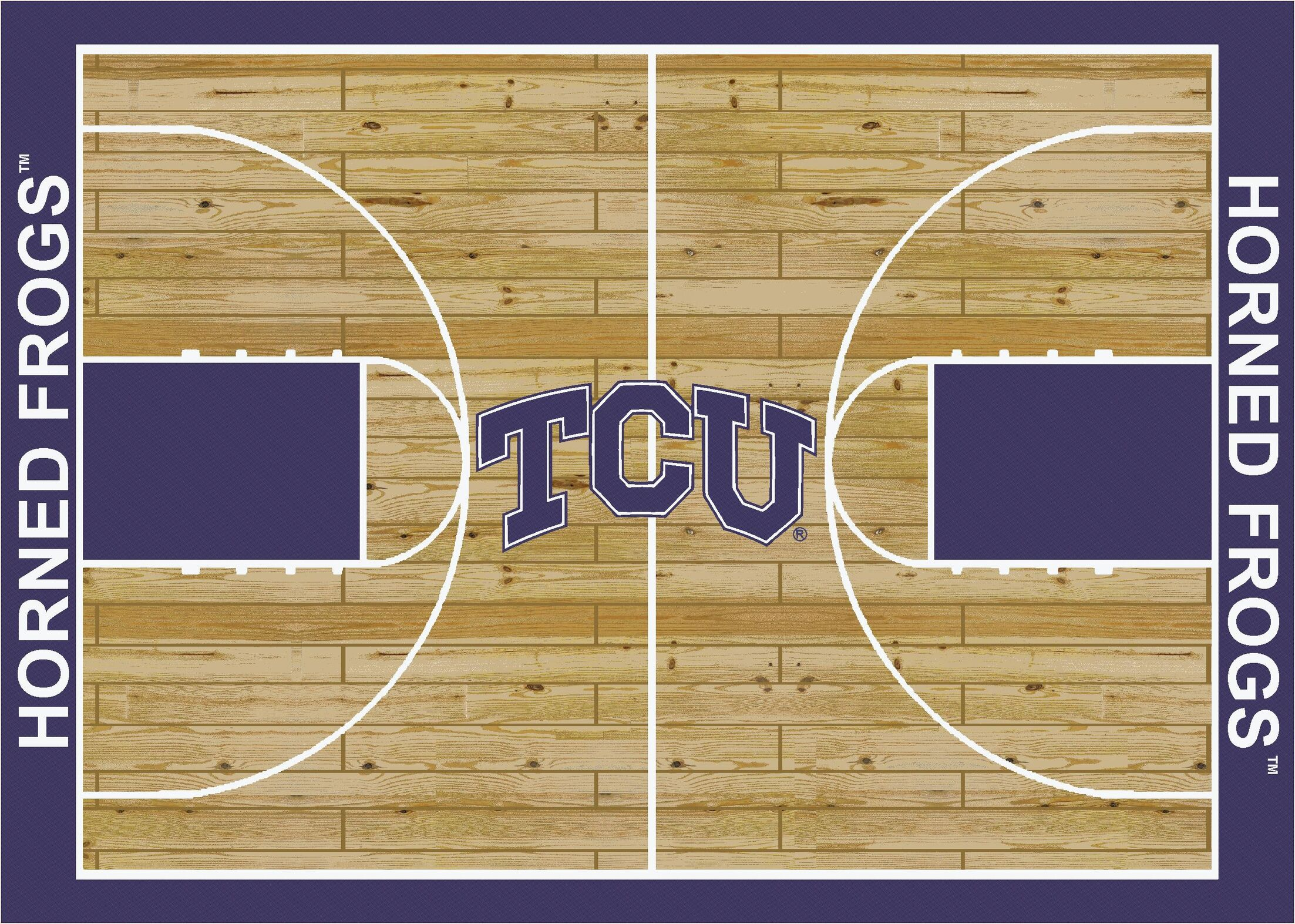 NCAA College Home Court Texas Christian Novelty Rug Rug Size: Rectangle 5'4