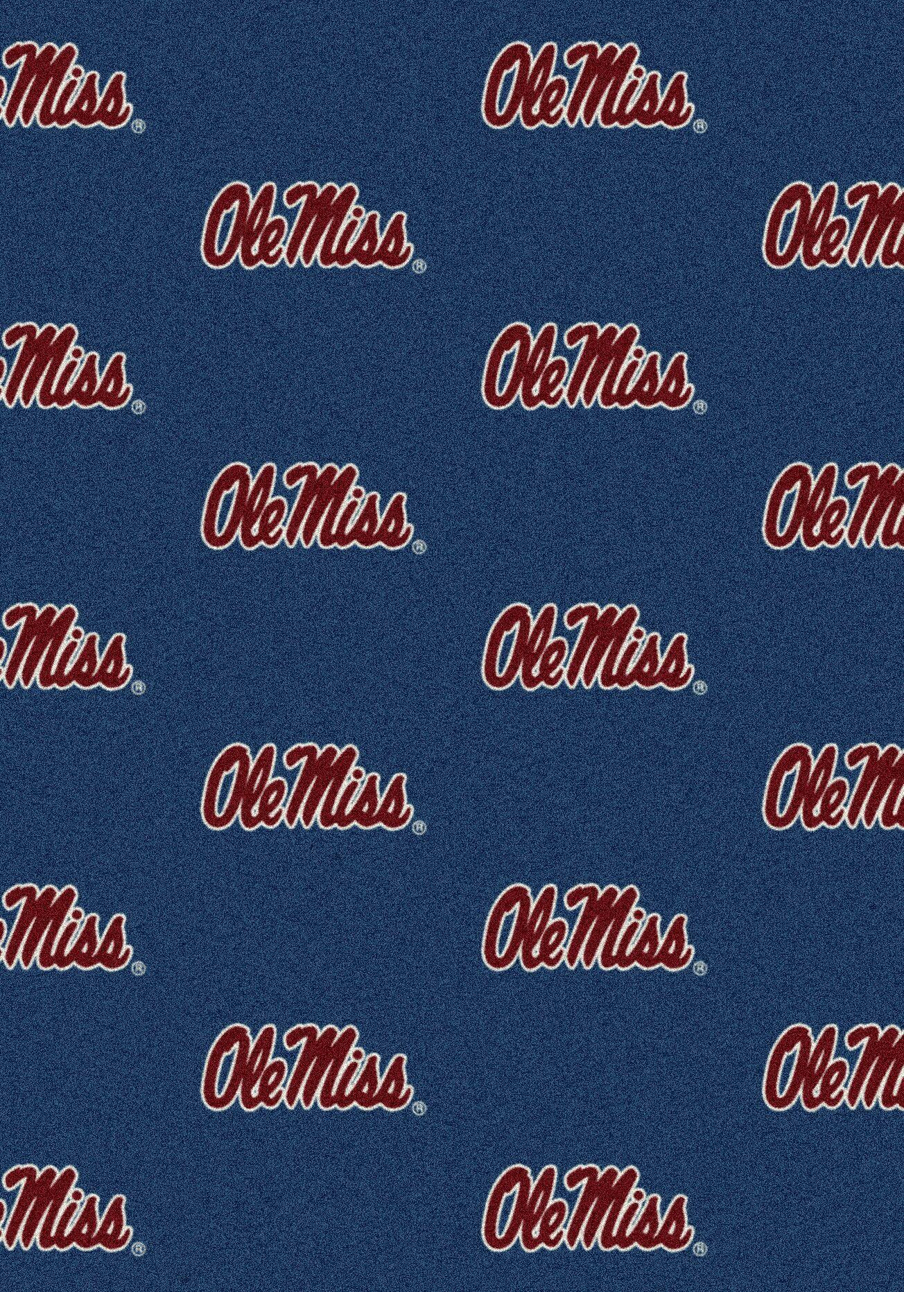 NCAA Team Repeating Novelty Rug NCAA Team: University of Mississippi
