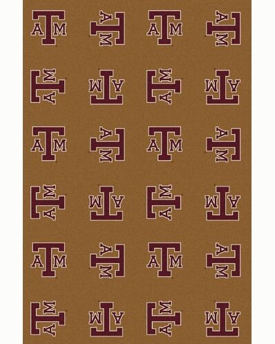 NCAA Collegiate II Texas A&M Novelty Rug in Gold Rug Size: Rectangle 10'9