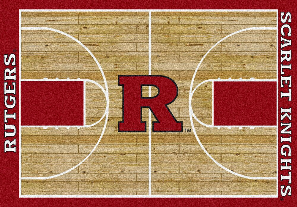 NCAA College Home Court Rutgers Novelty Rug Rug Size: Rectangle 7'8