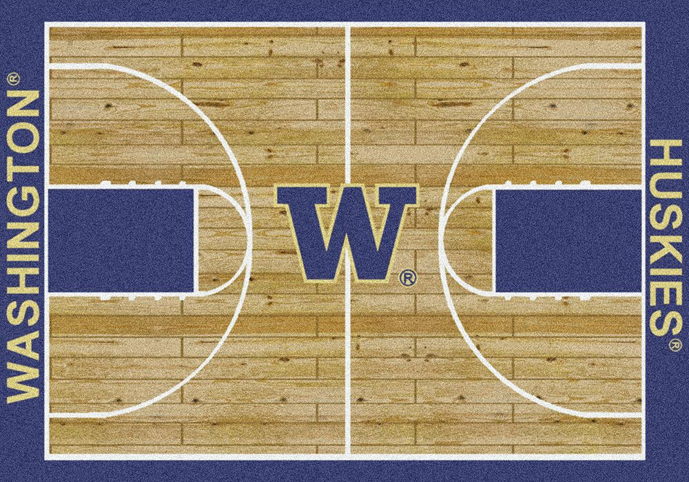 NCAA College Home Court Washington Novelty Rug Rug Size: Rectangle 5'4