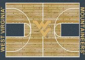 NCAA College Home Court West Virginia Novelty Rug Rug Size: Rectangle 3'10