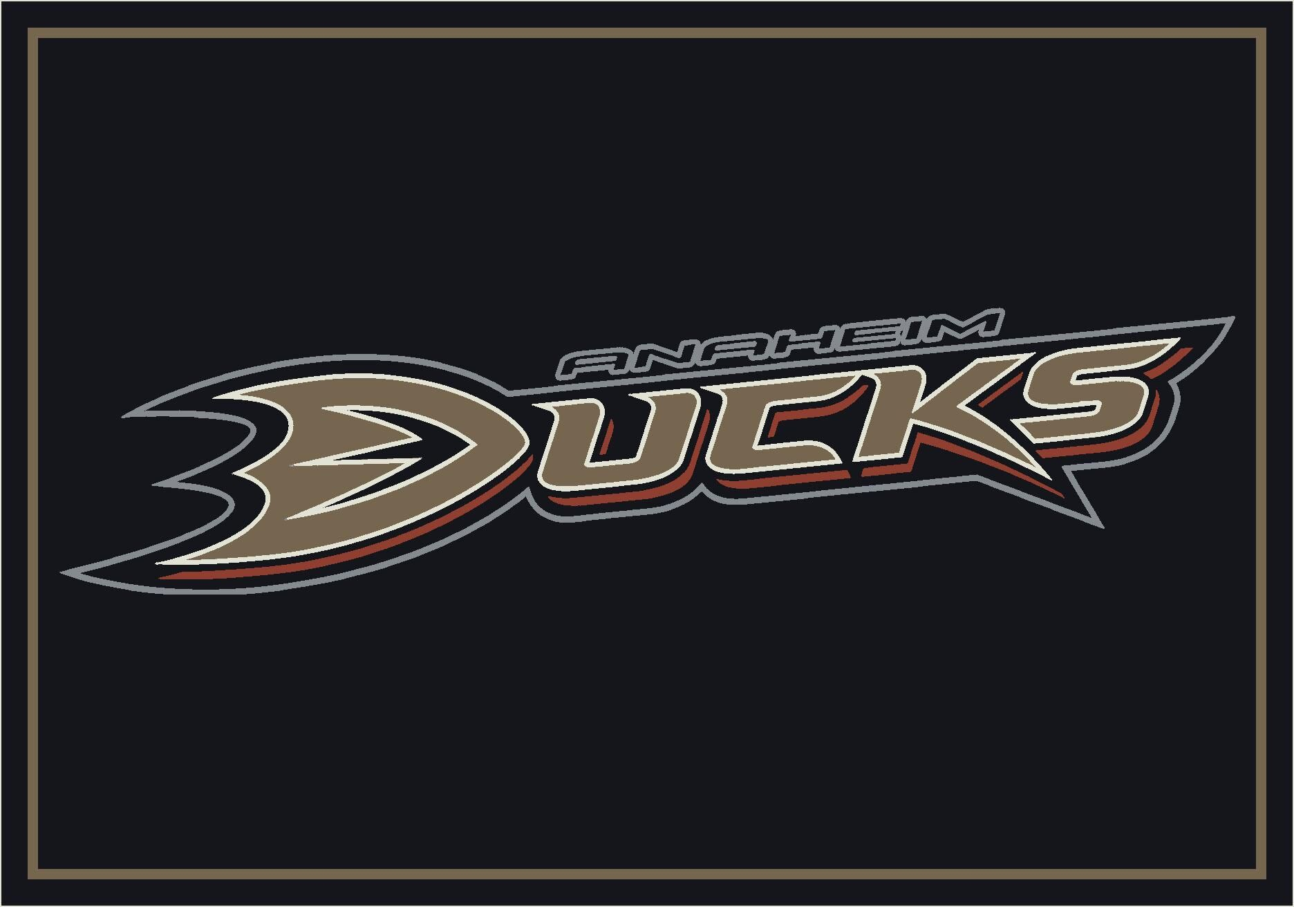 NHL Area Rug NHL Team: Anaheim Ducks