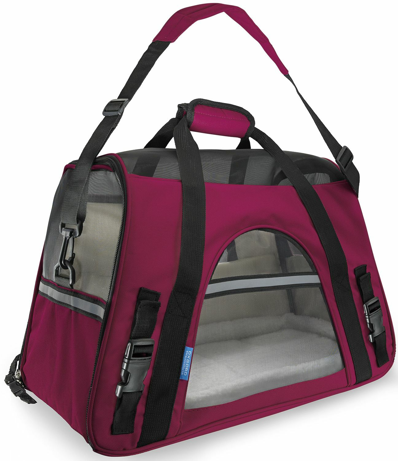 Pet Carrier with Fleece Bed Airline Approved Color: Hot Pink, Size: 19