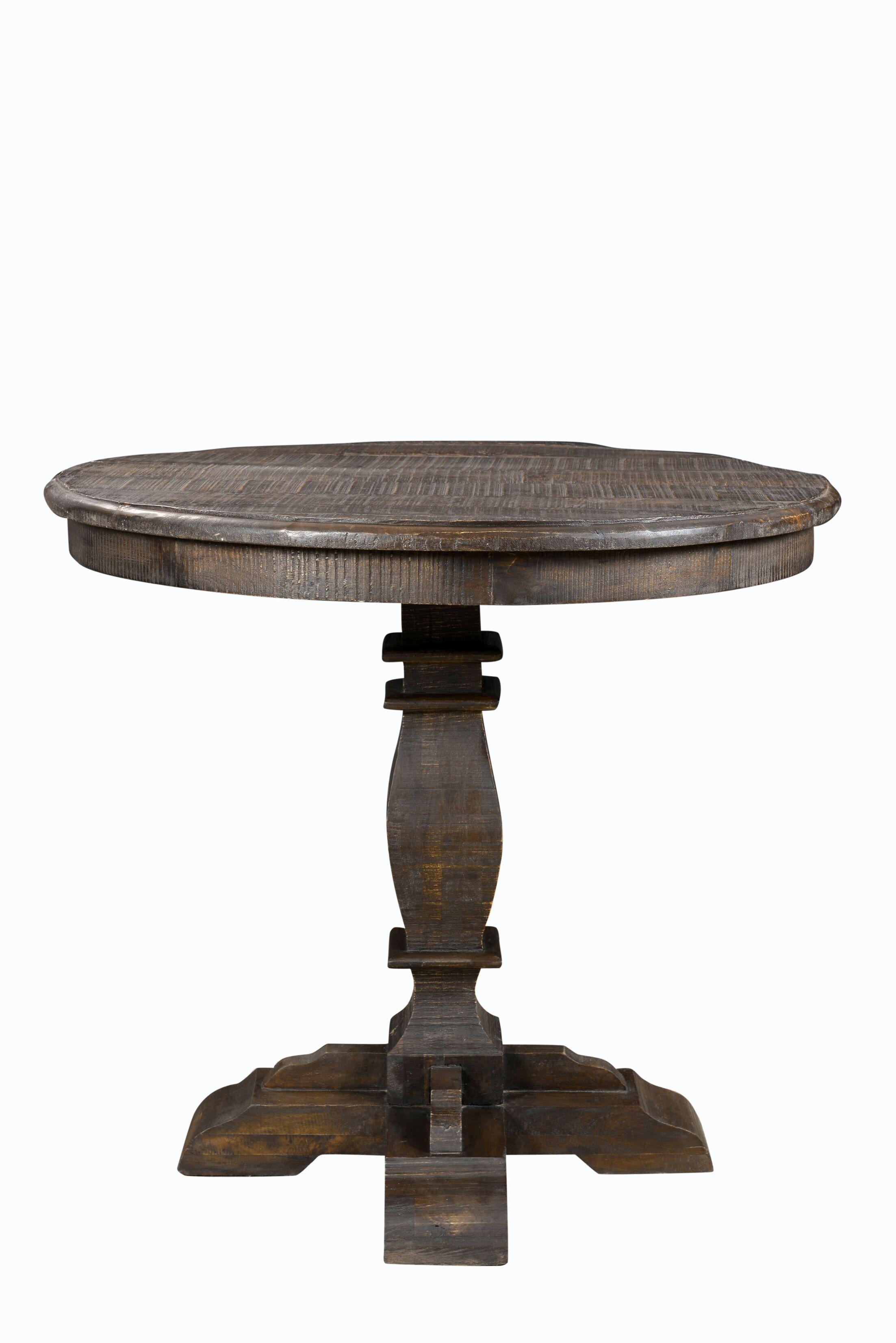 Imani Round Pub Table Color: Brown
