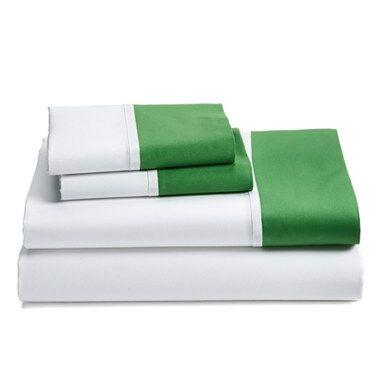 Grace Sheet Set Size: King, Color: Green