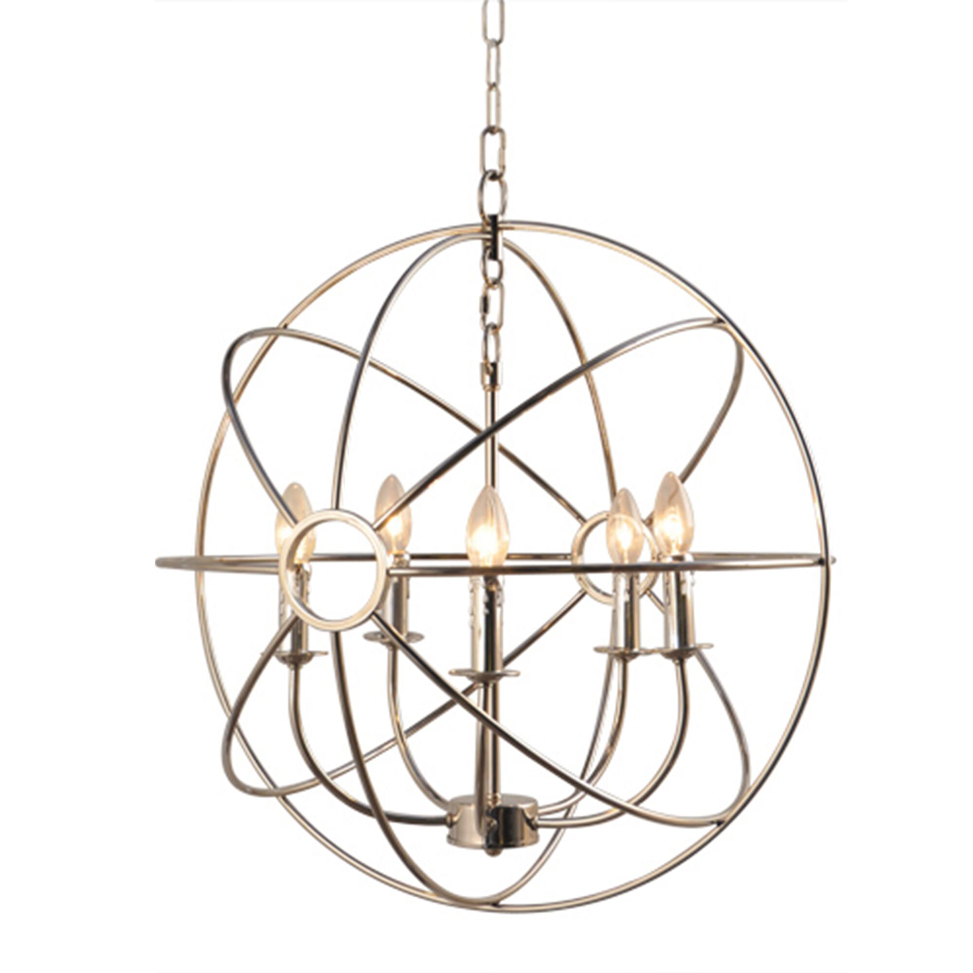 Lovettsville 5-Light Pendant Finish: Satin Nickel