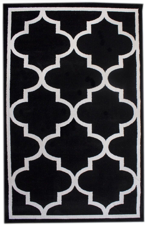 Florine Black Area Rug Rug Size: 8' x 10'