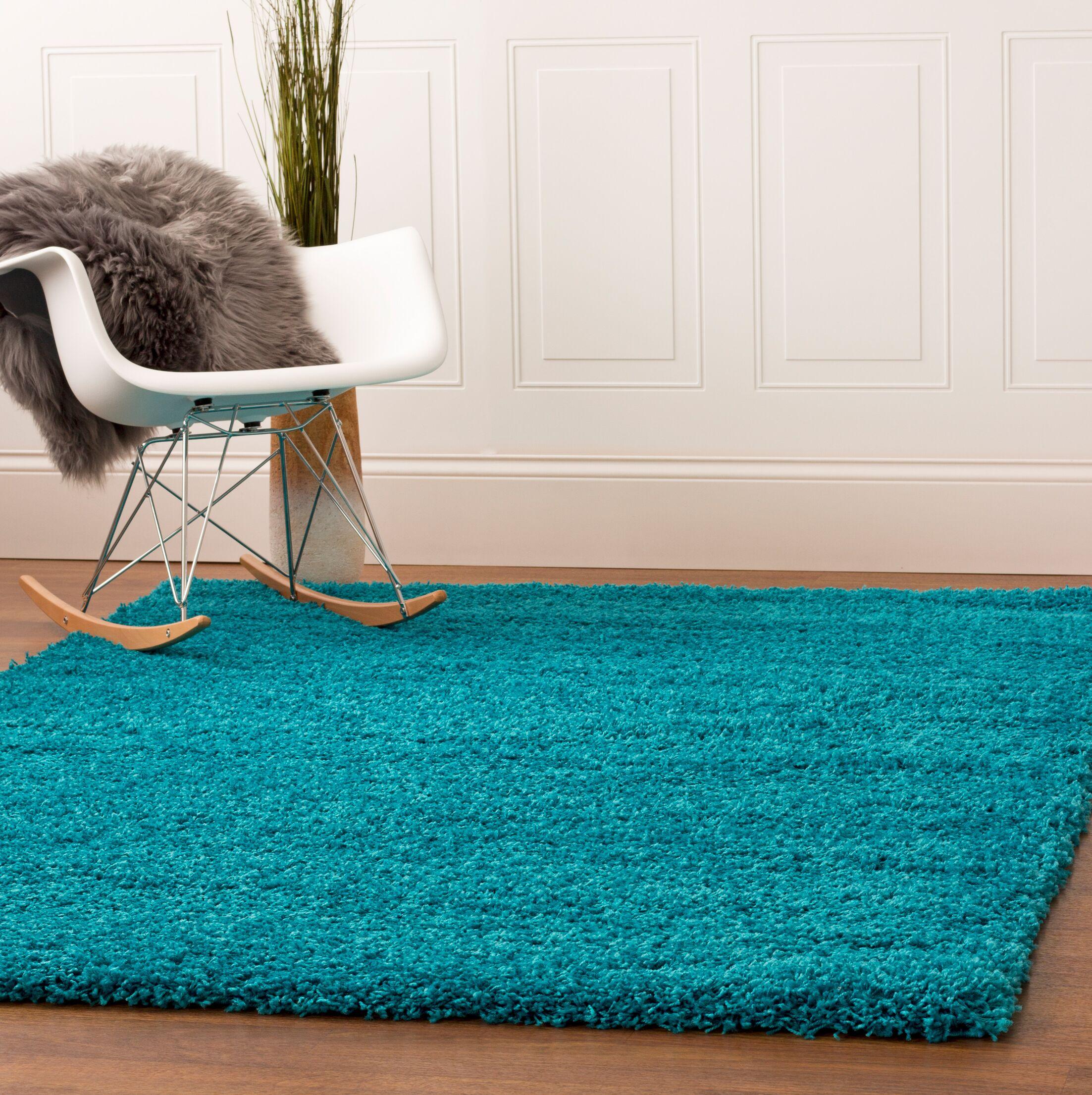 Turquoise Area Rug Rug Size: 8' x 10'