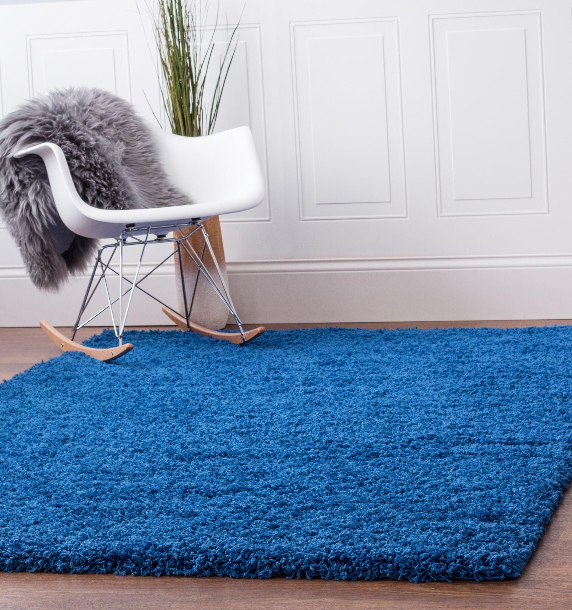 Aurea Blue Area Rug Rug Size: 4' x 6'
