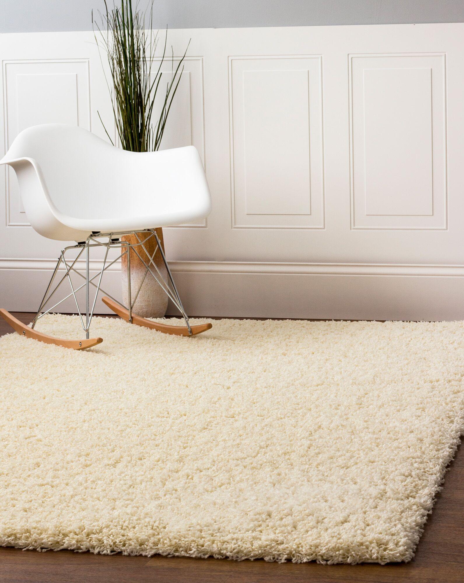Aurea Vanilla Cream Area Rug Rug Size: 7' 10
