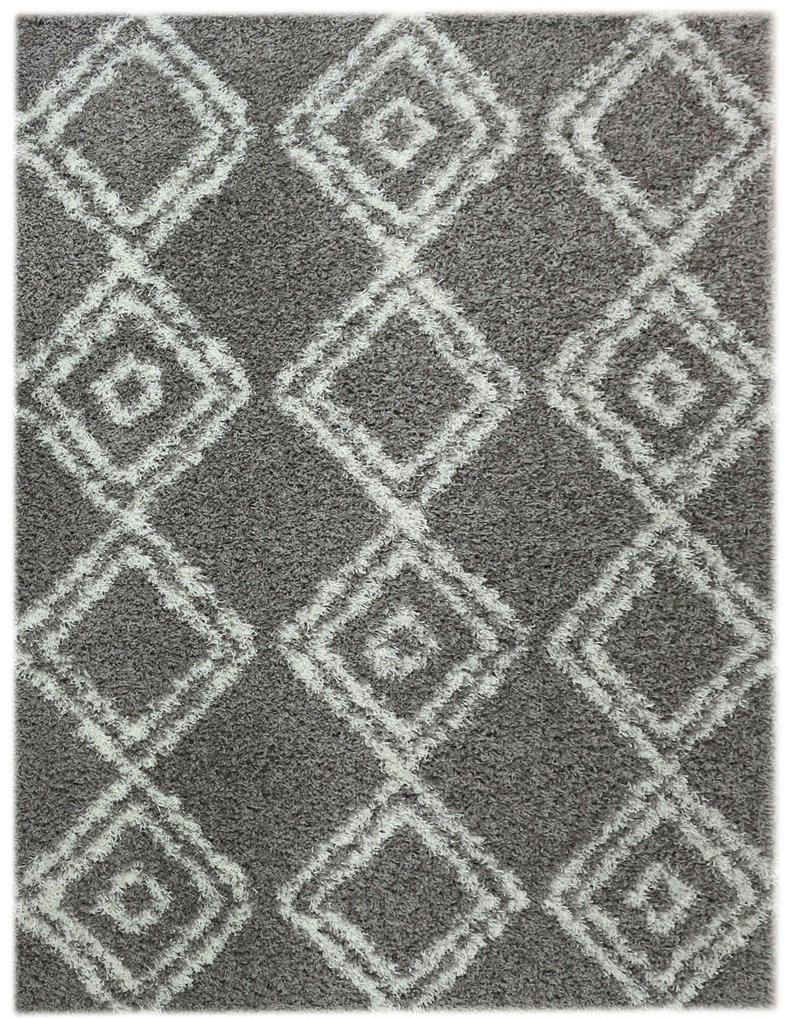 Acevedo Gray/White Area Rug