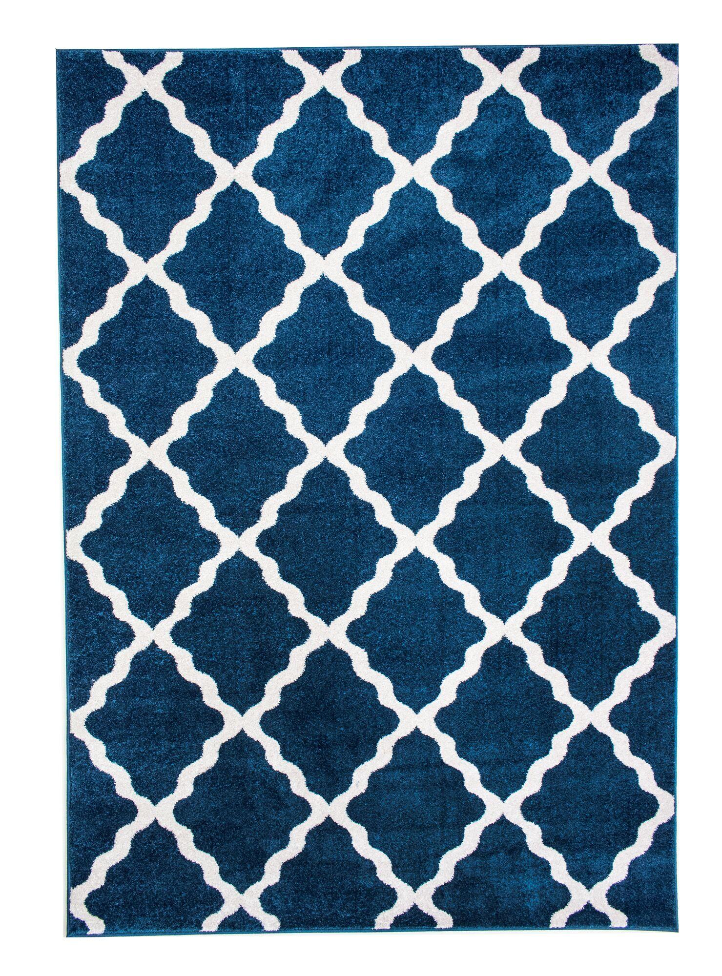 Madison Avenue Blue Area Rug Rug Size: 7'10