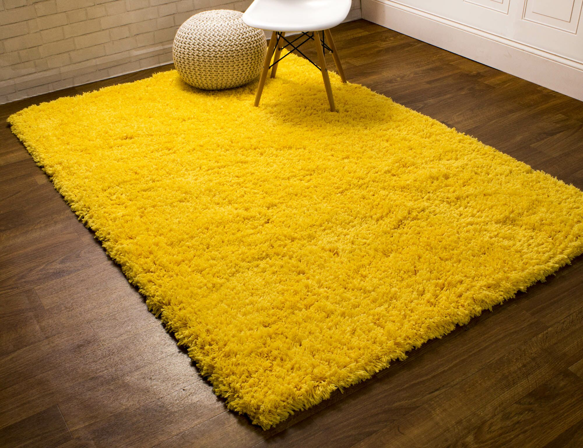 Cloud Microfiber Ultra Soft Shag Light Yellow Area Rug Rug Size: 2' x 3'