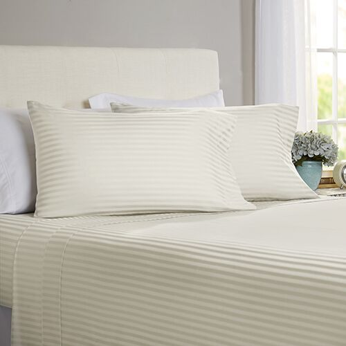 Milne 800 Thread Count 100% Cotton Sheet Set Size: California King, Color: Ivory
