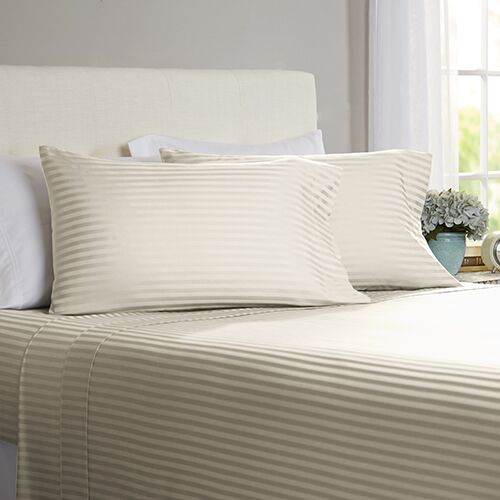 Milne 800 Thread Count 100% Cotton Sheet Set Color: Stone, Size: Full