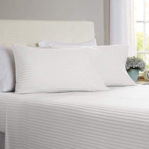 Milne 800 Thread Count 100% Cotton Sheet Set Size: California King, Color: White