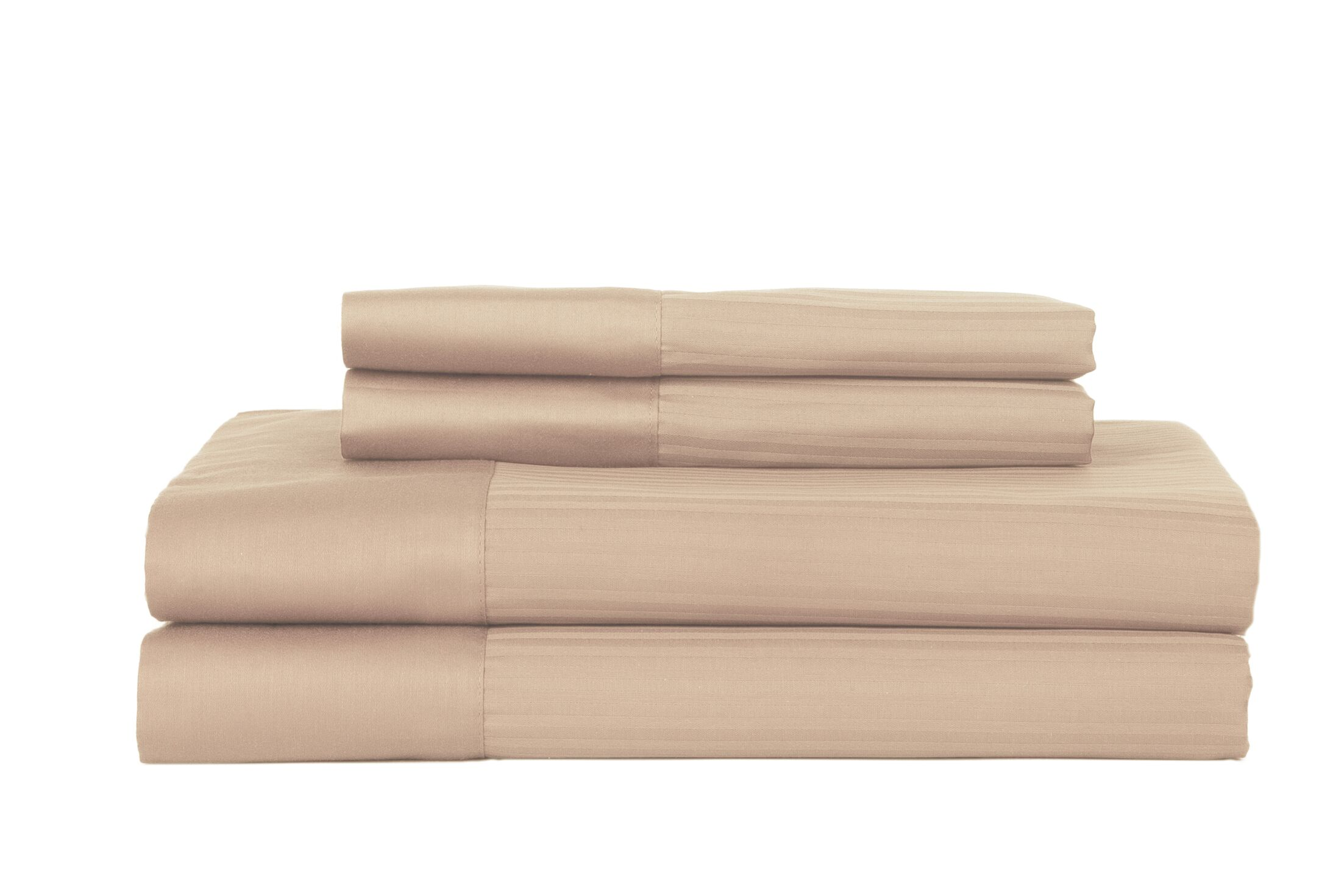 Hobbes 4 Piece 700 Thread Count Egyptian Quality Cotton Sheet Set Size: Full, Color: Sandstone
