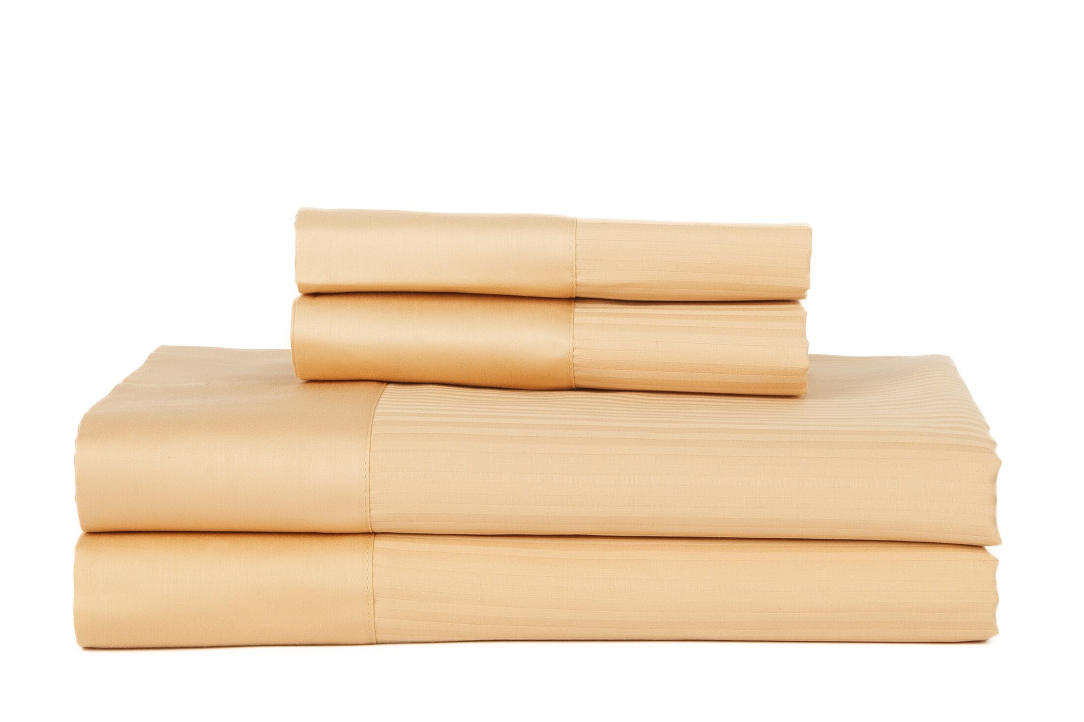 Hobbes 4 Piece 700 Thread Count Egyptian Quality Cotton Sheet Set Color: Gold, Size: Queen