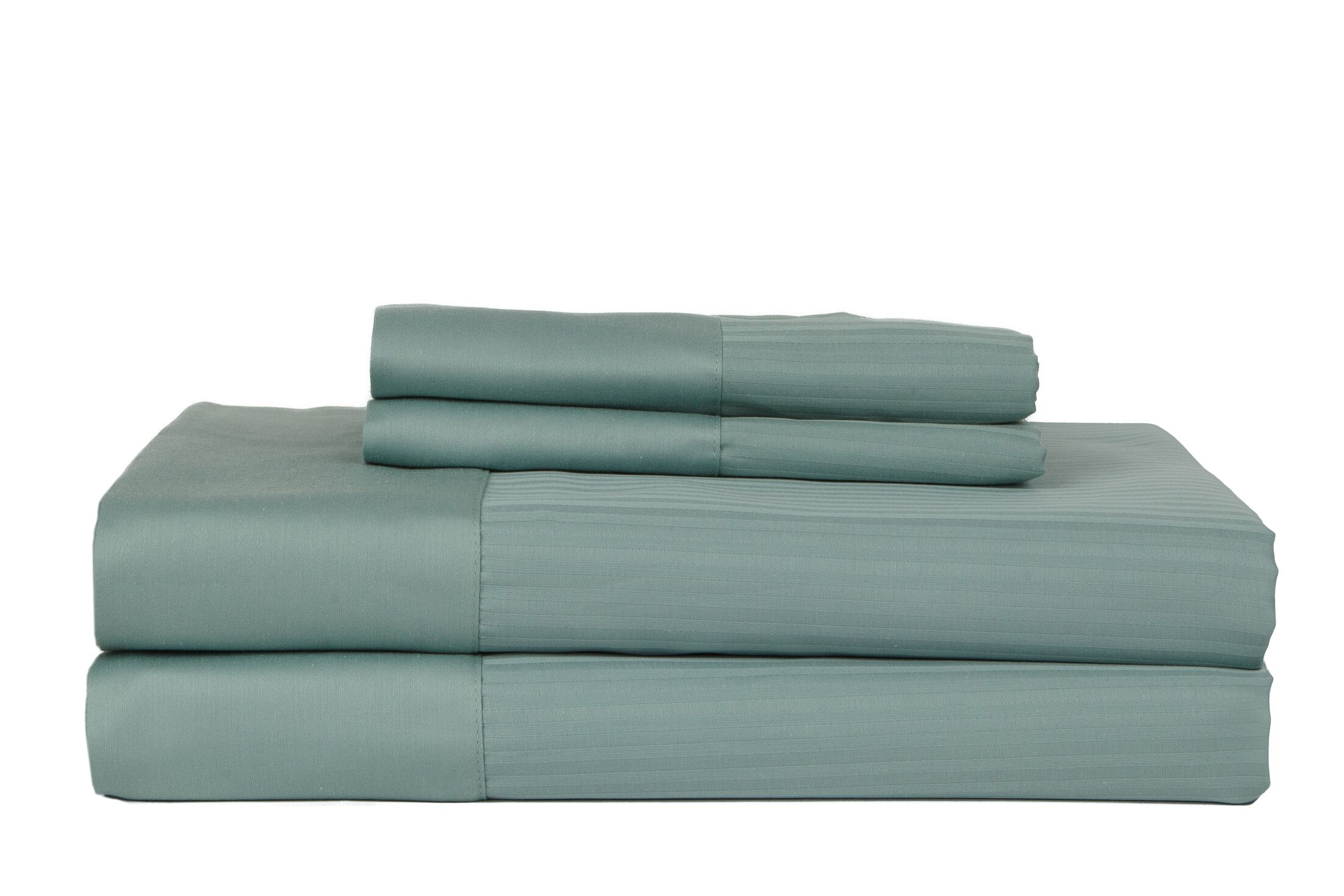 Hobbes 4 Piece 700 Thread Count Egyptian Quality Cotton Sheet Set Color: Ocean Blue, Size: King