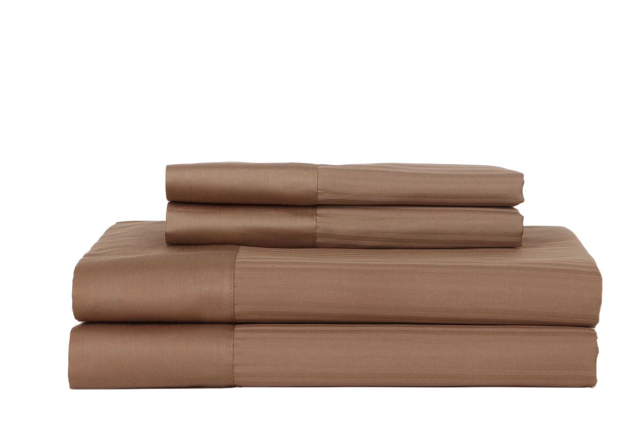 Hobbes 4 Piece 700 Thread Count Egyptian Quality Cotton Sheet Set Color: Cocoa, Size: Queen