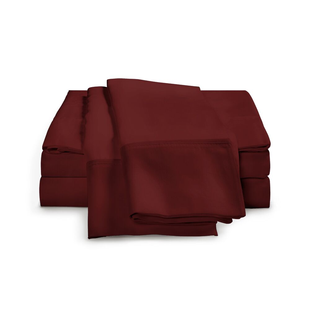 Chaucer 1000 Thread Count Egyptian-Quality Cotton Sheet Set Size: King, Color: Burgundy