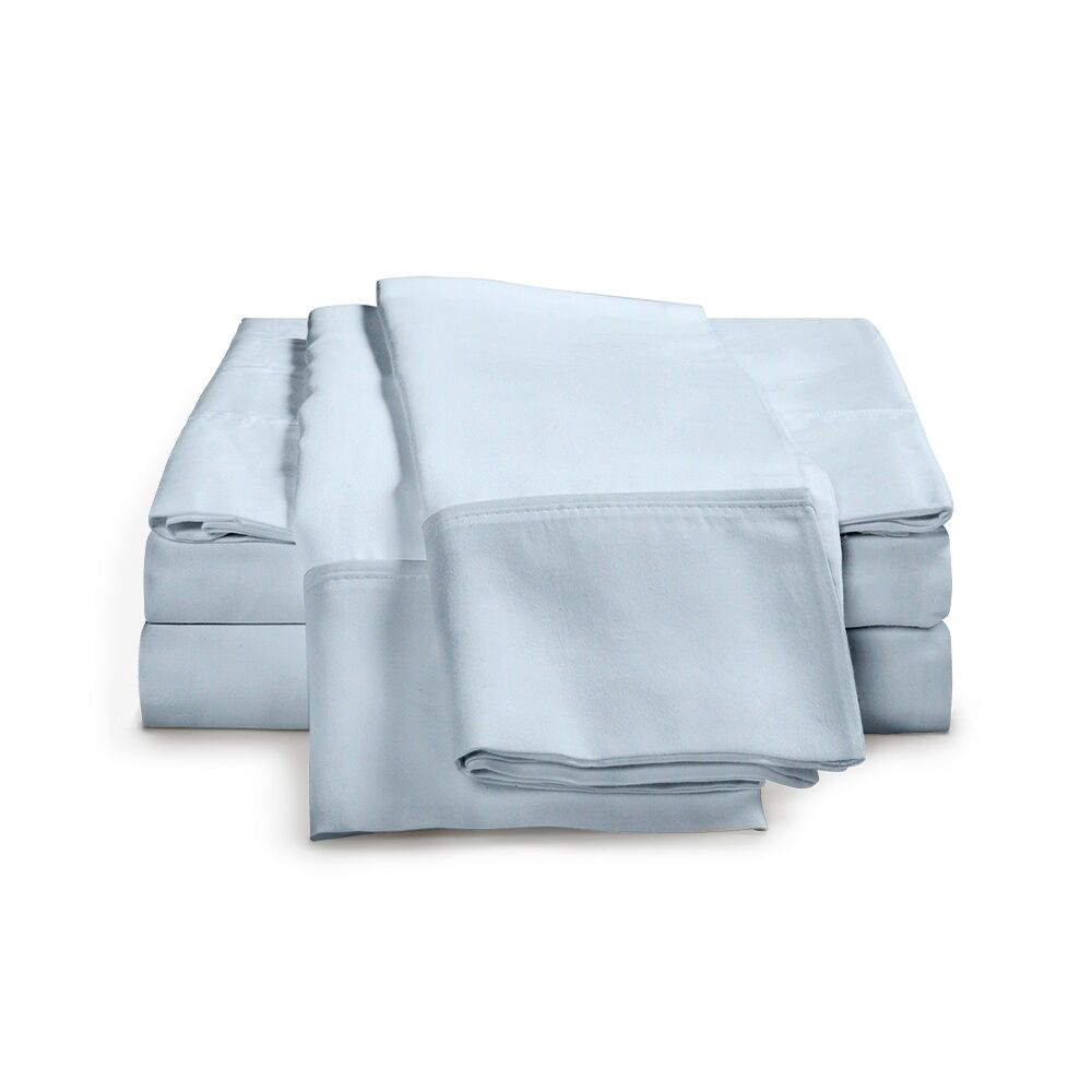 Chaucer 1000 Thread Count Egyptian-Quality Cotton Sheet Set Size: Queen, Color: Light Blue