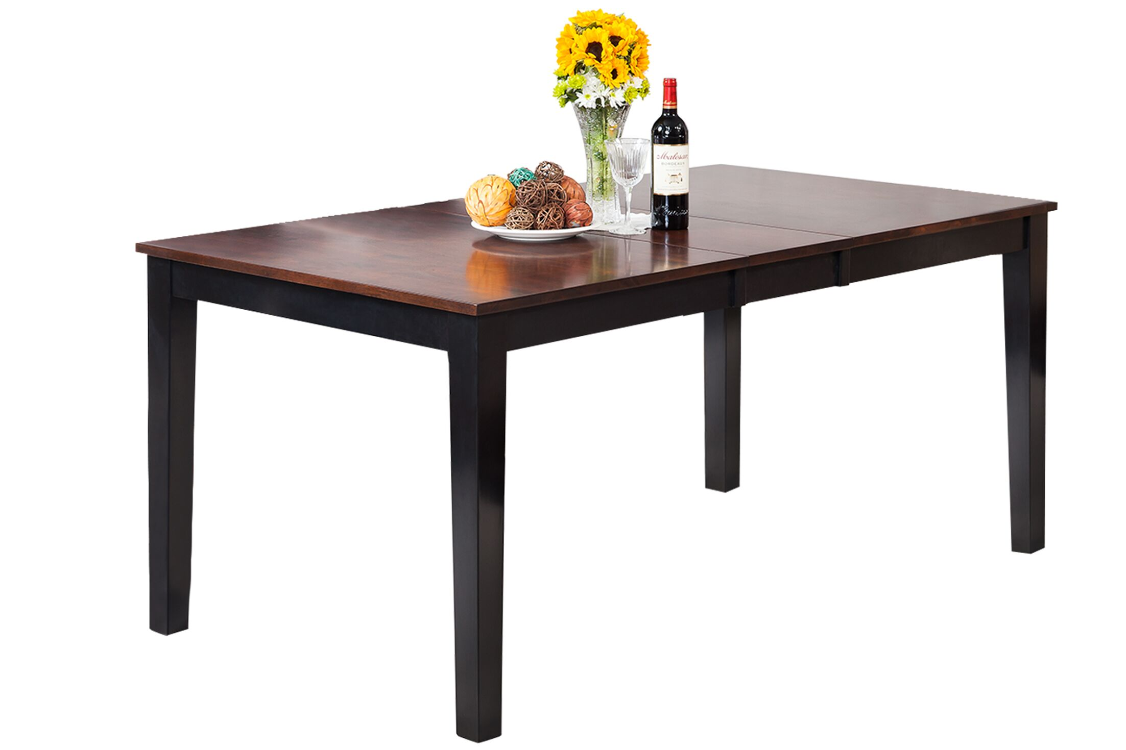 Boswell Extendable Solid Wood Dining Table Finish: Distressed Light Cherry / Black