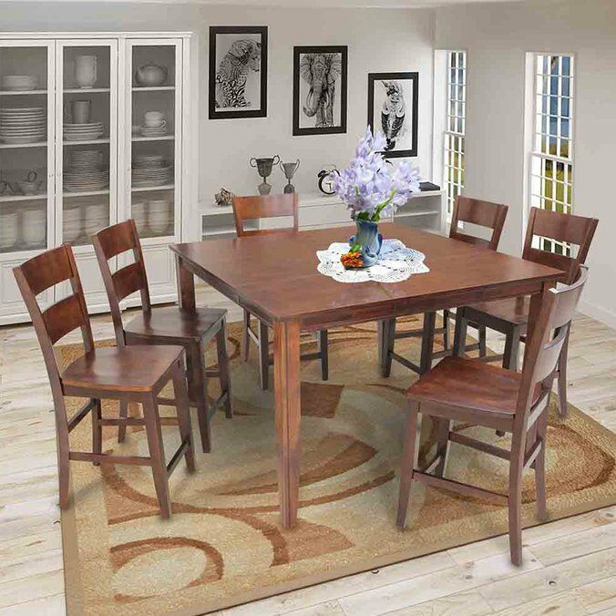 Blairmore Counter Height Dining Table Finish: Espresso