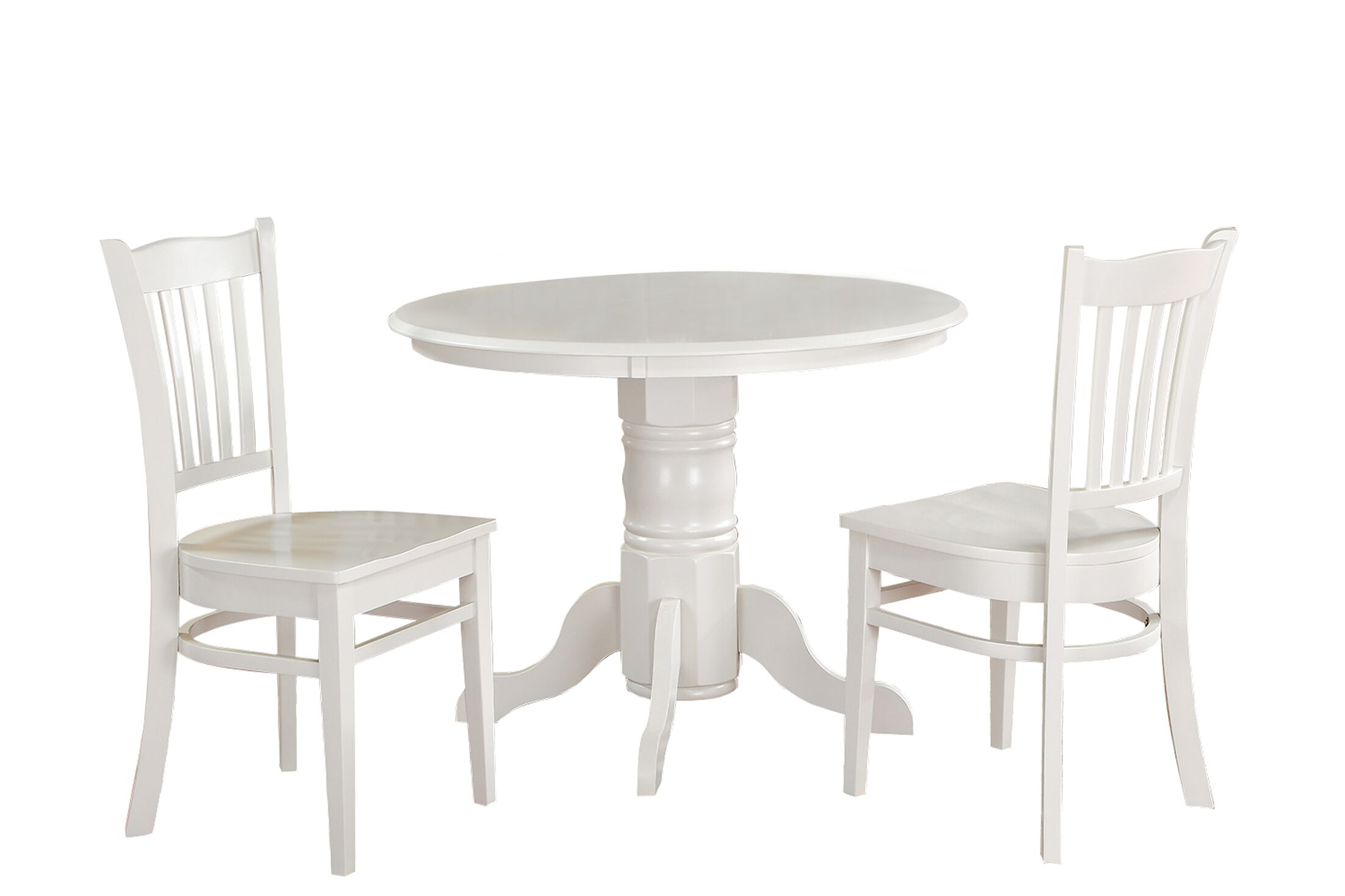 Morley 3 Piece Solid Wood Dining Set Finish: White