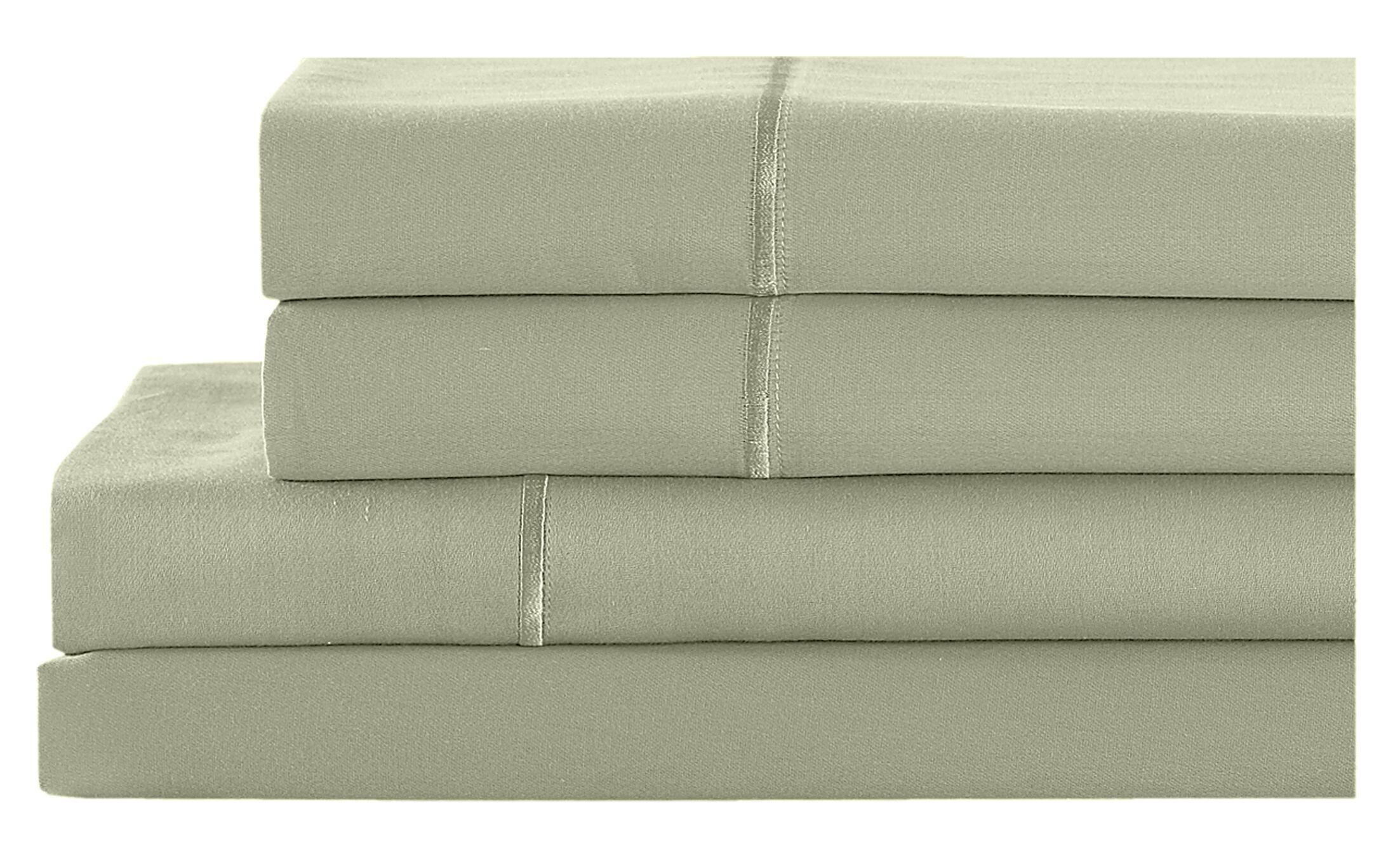 4 Piece 400 Thread Count 100% Cotton Sheet Set Size: Queen, Color: Sage