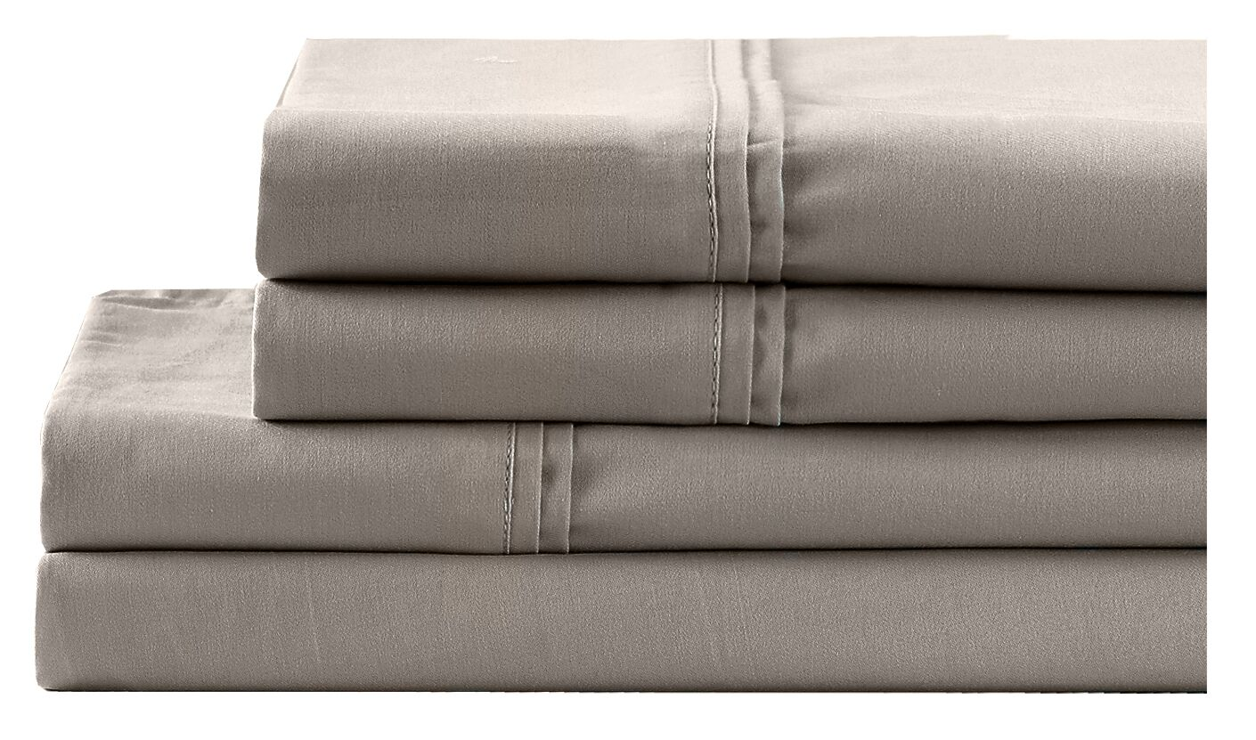 4 Piece 700 Thread Count Sheet Set Size: Full, Color: Taupe