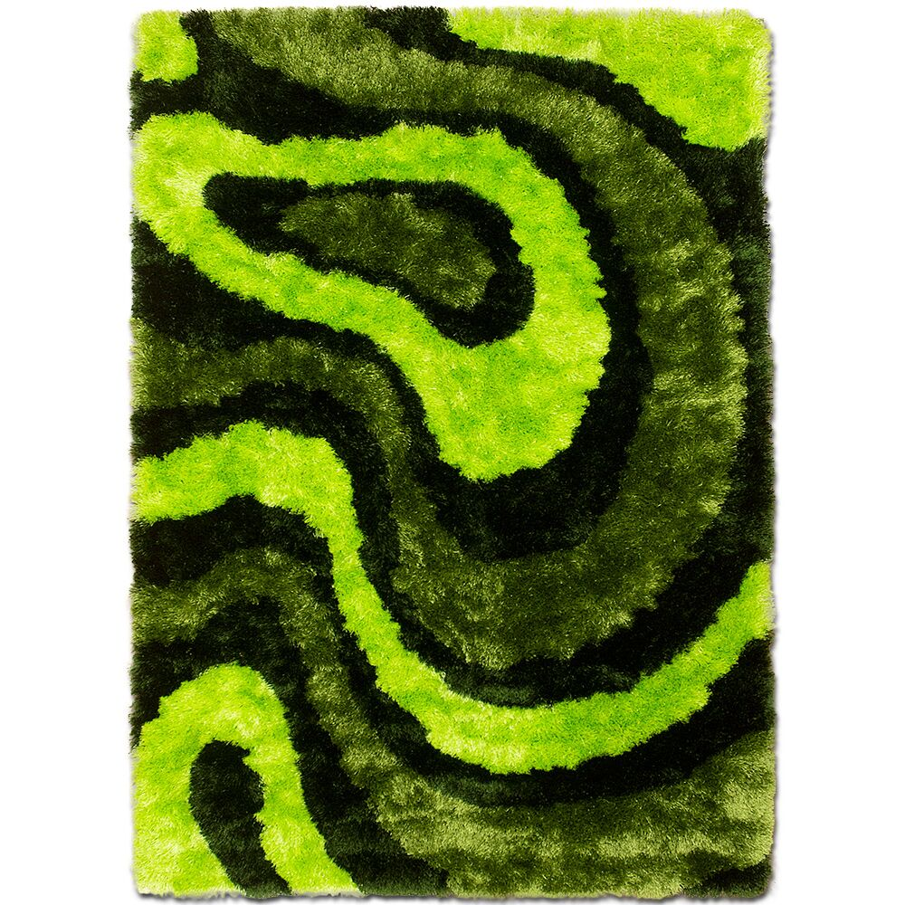 Hand-Tufted Green Area Rug Rug Size: 7'11