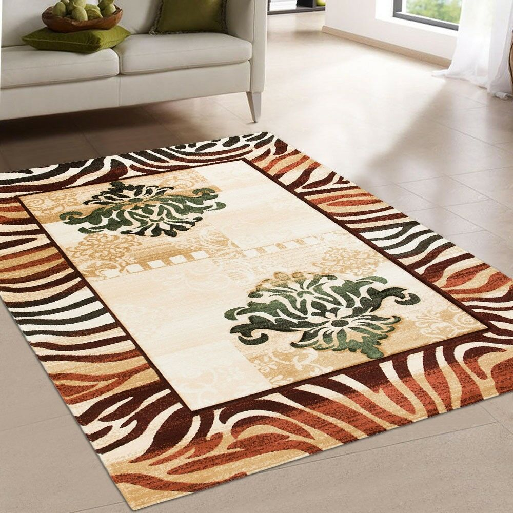 Print Brown Area Rug Rug Size: Rectangle 7'9