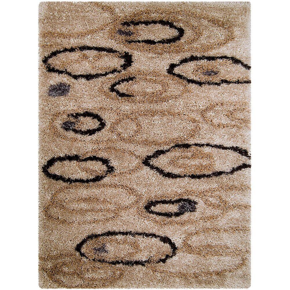 Brown Area Rug Rug Size: Rectangle 4'11