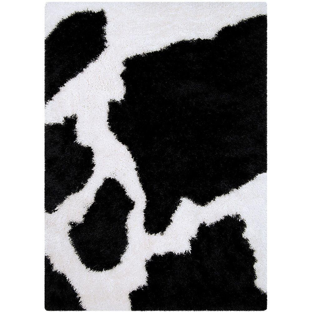 Black/White Area Rug Rug Size: Rectangle 4'11
