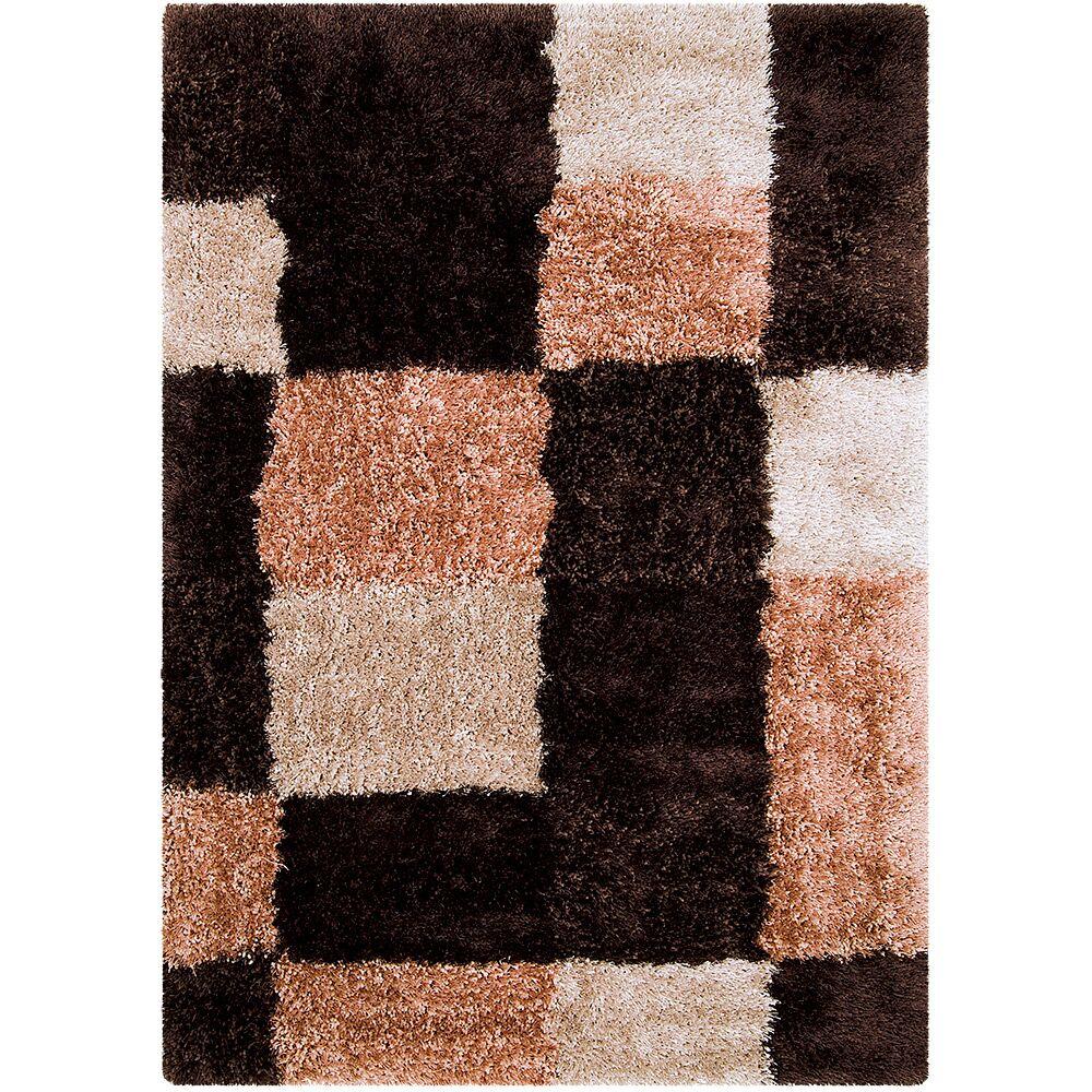 Black/Brown Area Rug Rug Size: Rectangle 4'11
