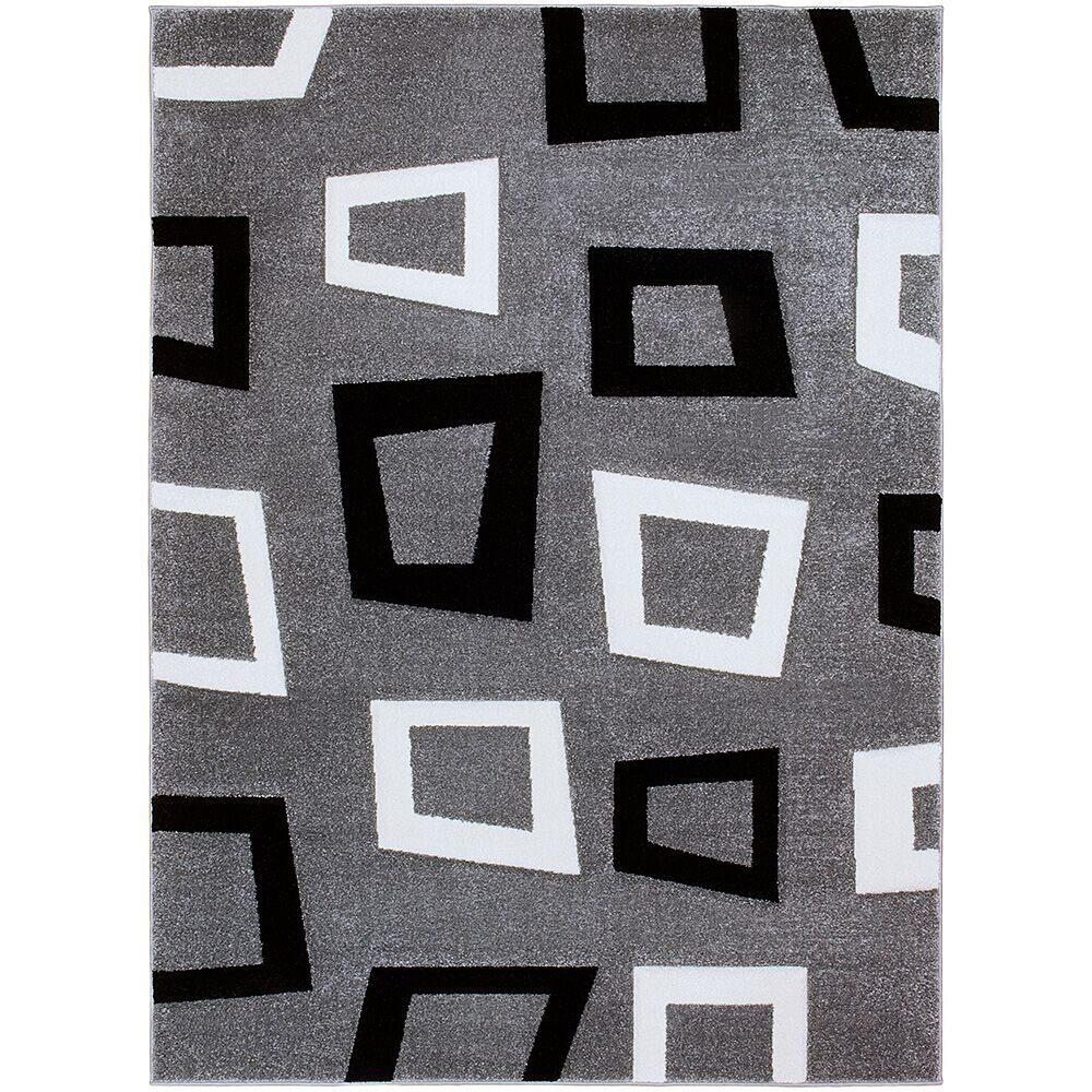 Gray Area Rug Rug Size: Rectangle 3'9