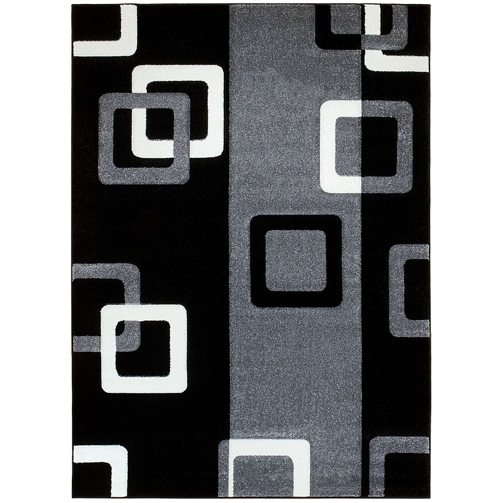 Gray/Black Area Rug Rug Size: Rectangle 7'9