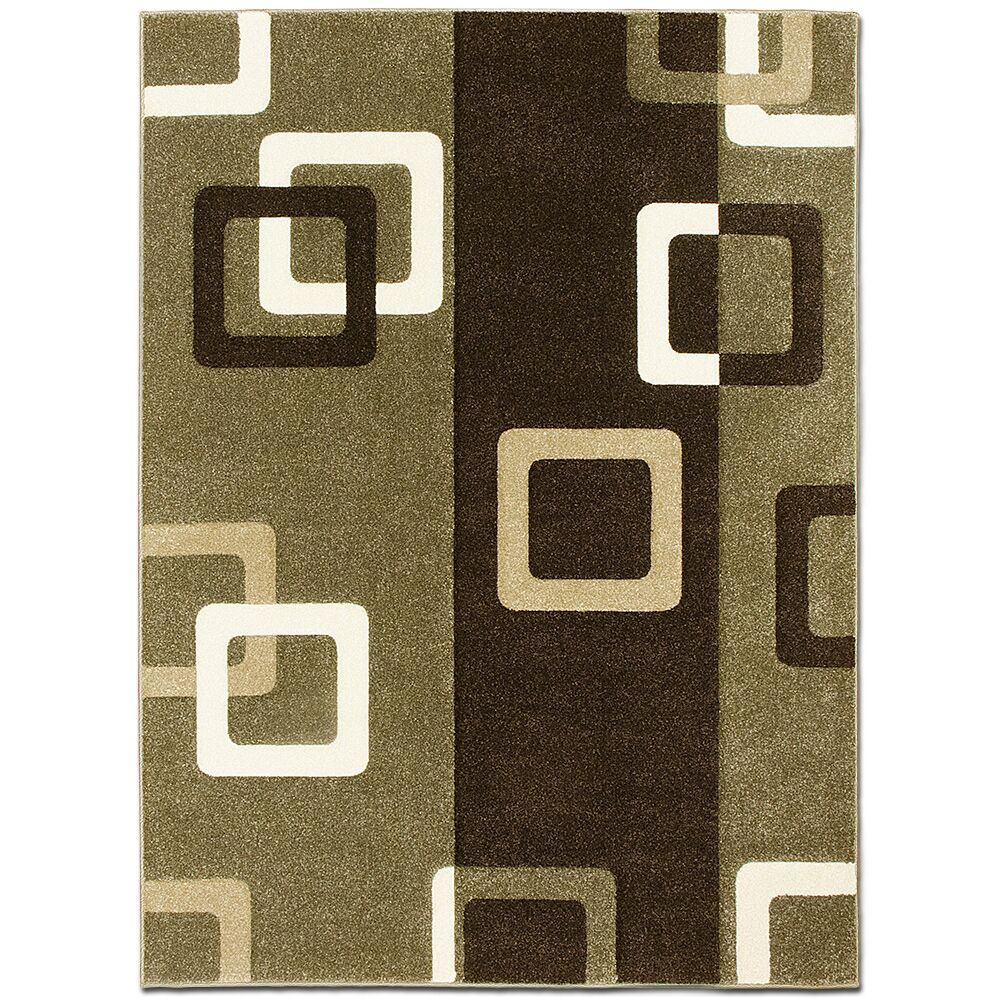 Green/Brown Area Rug Rug Size: Rectangle 5'2