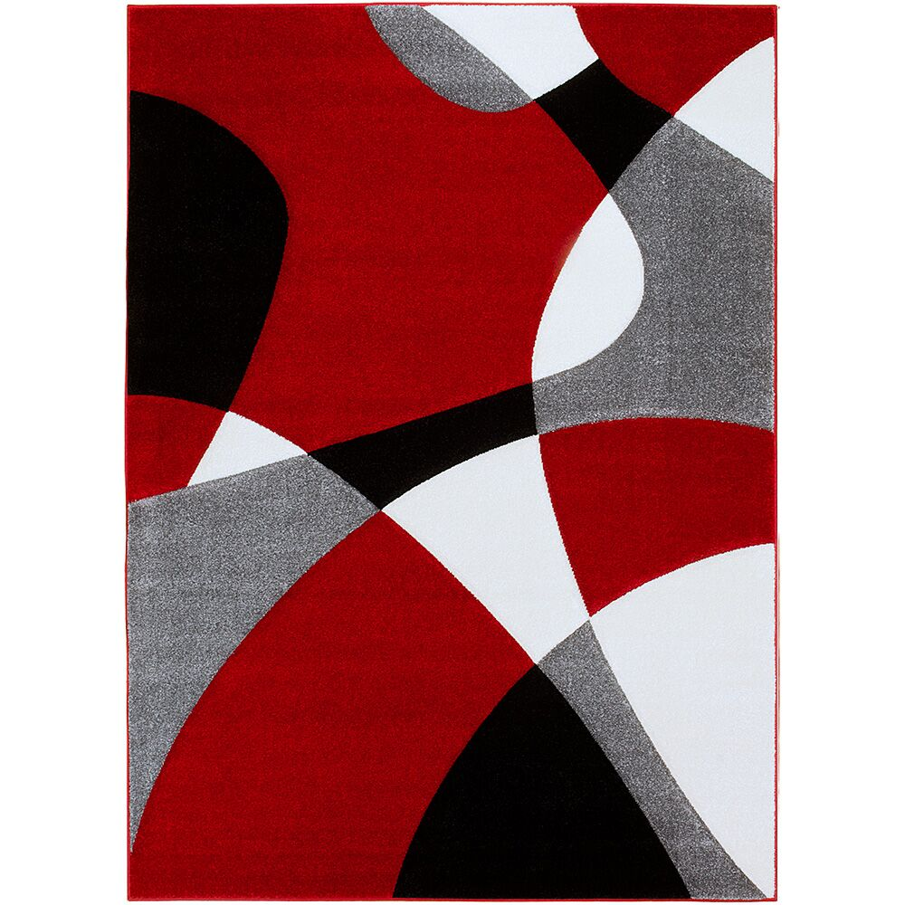 Red Area Rug Rug Size: Rectangle 5'2